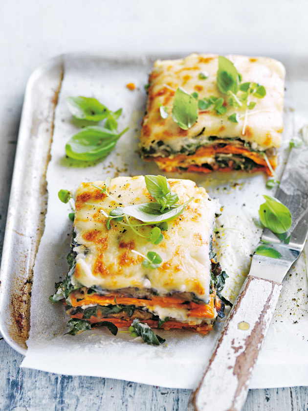 COMFORT FOOD SWEET POTATO AND EGGPLANT BECHAMEL LASAGNE