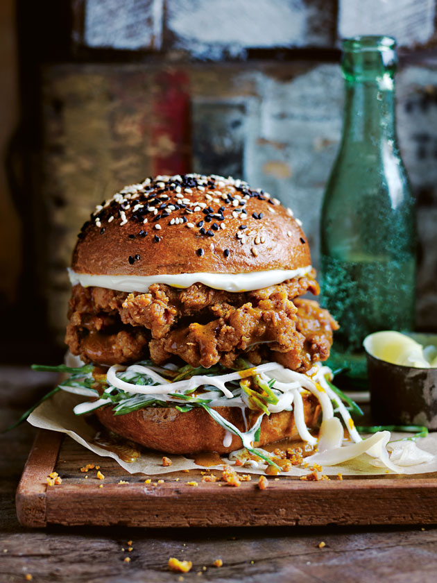 LOADED BURGERS KATSU CURRY FRIED CHICKEN BURGER