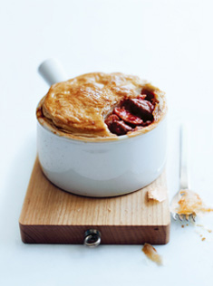 home / recipes / fast weeknights / beef, tomato and mushroom pot pies