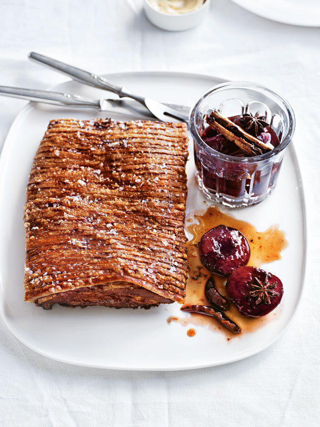 Crispy Pork Belly With Spiced Plum Sauce | Donna Hay