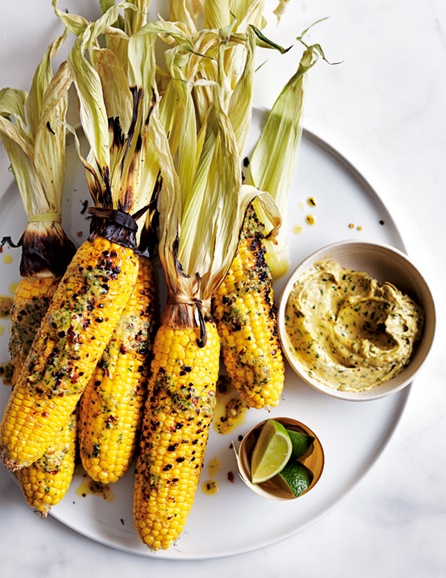 Grilled Corn With Miso Lime Butter | Donna Hay