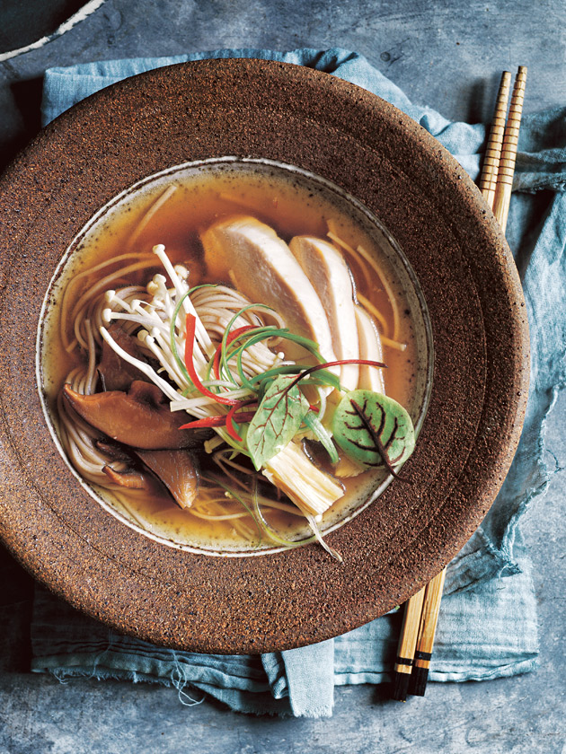 Japanese Chicken And Mushroom Soba Noodle Soup | Donna Hay