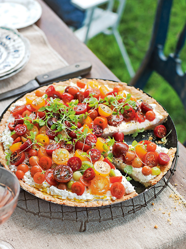 Ricotta And Heirloom Tomato Tart | Donna Hay