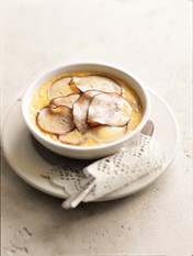 baked pear custard