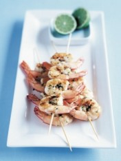 barbecued prawns with garlic butter