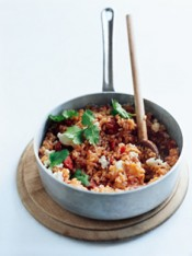 cheat's chorizo paella