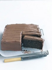 classic chocolate cake with chocolate buttercream