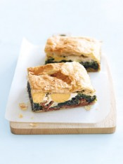bacon, egg and spinach pie