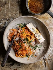 brown butter and gorgonzola pumpkin pasta