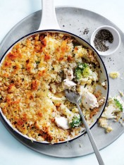 caramelised leek and broccoli fish pie