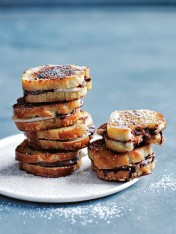 choc-hazelnut and banana french toast