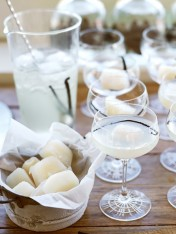 lychee and vanilla tequila martini