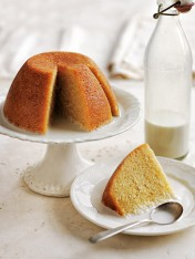 orange and almond steamed pudding