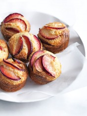 plum and quinoa muffins