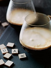 whisky coffee with spiced cream