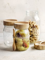 Apple crumble jars