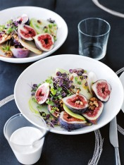 apple and fig salad with goat's curd dressing