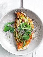 asparagus and ricotta souffle omelette