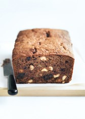 banana, hazelnut and chocolate bread