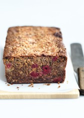 banana, raspberry and coconut bread