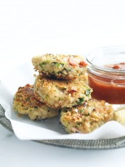 broccoli, bacon and quinoa fritters