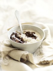 choc-orange rice pudding