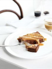 chocolate semifreddo with salted caramel