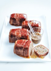 chorizo meatloaves with maple glaze