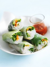 coconut chicken rice paper rolls