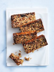coconut, oat and chia muesli bars