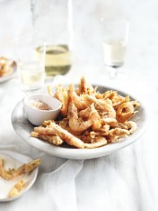 crispy prawns with lemon chilli salt