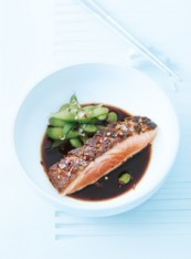crispy skin salmon with chilli salt