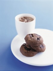 double-choc chip cookies