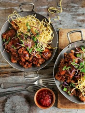 five-spice chicken with crispy noodles