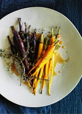 honey and lemon thyme roasted carrots