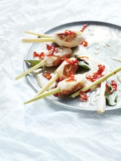 lemongrass fish skewers with chilli dressing
