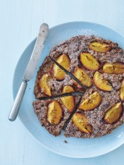 nectarine and amaretti tart