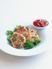 pea and ham fritters