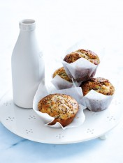 pear, yoghurt and chia muffins