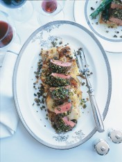 pistachio-and-lemon-crusted lamb