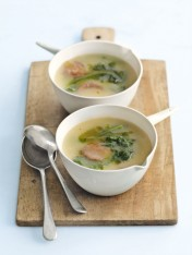 potato, kale and chorizo soup