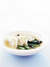 prawn-and-garlic-chive gow gee soup