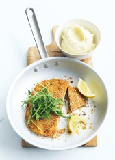 quinoa-crumbed schnitzels with prosciutto and sage