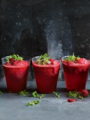 raspberry sorbet champagne spritzers