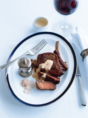 rib eye steak with mustard cream sauce