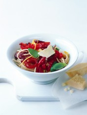 roasted capsicum and chorizo pasta