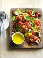 roasted capsicum, tomato and barley salad