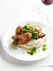 roasted spatchcock with porcini mash