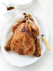roasted turkey with cranberry and sage stuffing