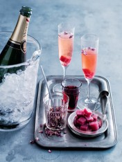 rose & blackcurrant champagne